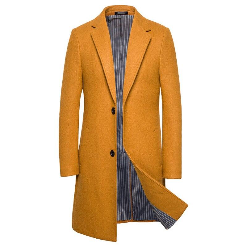 Fad мужское шерстяное пальто высокого качества роскошное Пальто мужское зимнее длинное шерстяное и Смешанное Пальто Повседневное шерстяное...