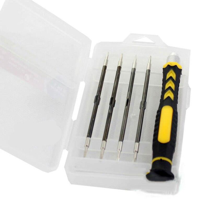 PARON 5 In1 Manual Universal Screwdriver Mini Set Torx Screw Driver Tools Series Bit for Glasses Handle Phone Repair