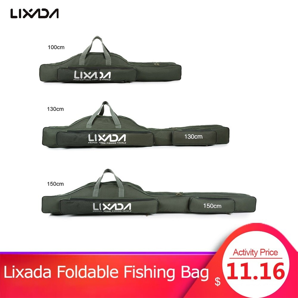 Bolsa de pesca Lixada, bolsa portátil plegable para carrete de caña de pescar, caja de transporte de herramientas, bolsa organizadora para almacenamiento de viaje