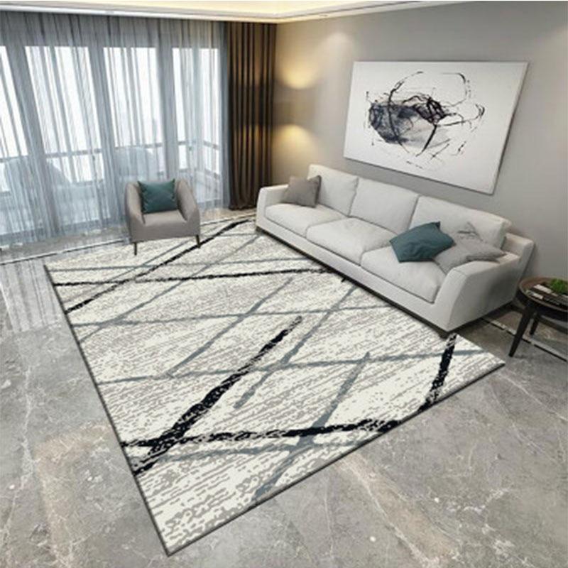 الحديثة الشمال نمط البساط هندسية غرفة المعيشة السجاد أريكة طاولة القهوة الكلمة حصيرة مخصصة مستطيل السجاد ديكور المنزل