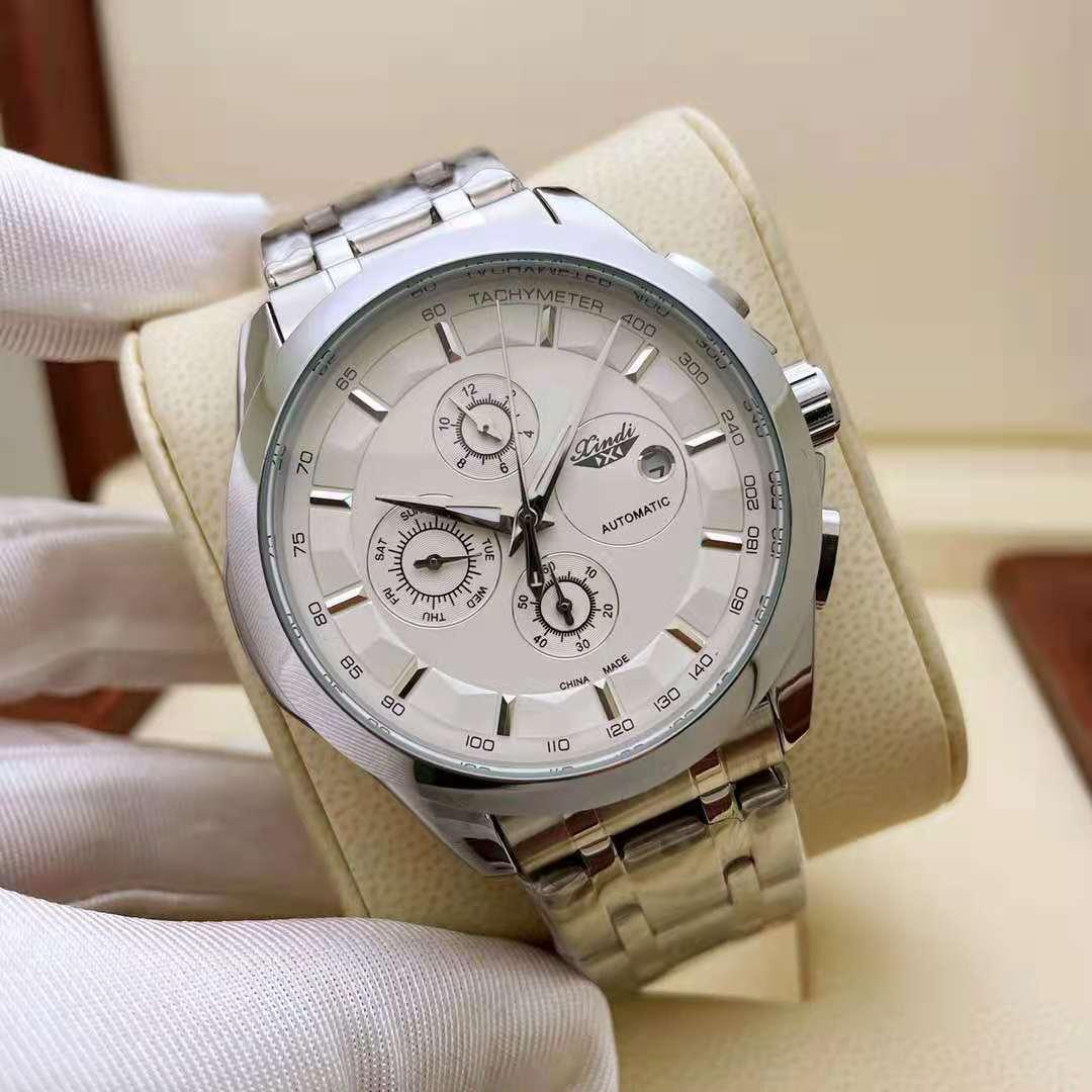 Men's and Women's Fashion Advanced Mechanical Watch Size 41mm*11mm Hollow Through Bottom Movement Transparent Calfskin Strap enlarge