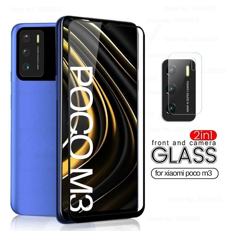 glass pocophone m3 phone screen camera lens protectors for xiaomi poco m3 m 3 pocom3 global version