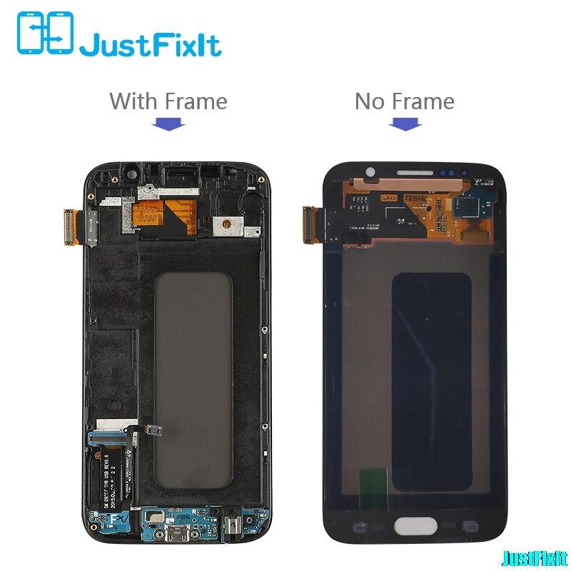 100 Probado Super Amuled Para Samsung Galaxy S6 G920f Pantalla Lcd Burn In Shadow Montaje De Digitalizador Con Pantalla Táctil Marco Frontal Pantallas Lcd Para Teléfonos Móviles Aliexpress
