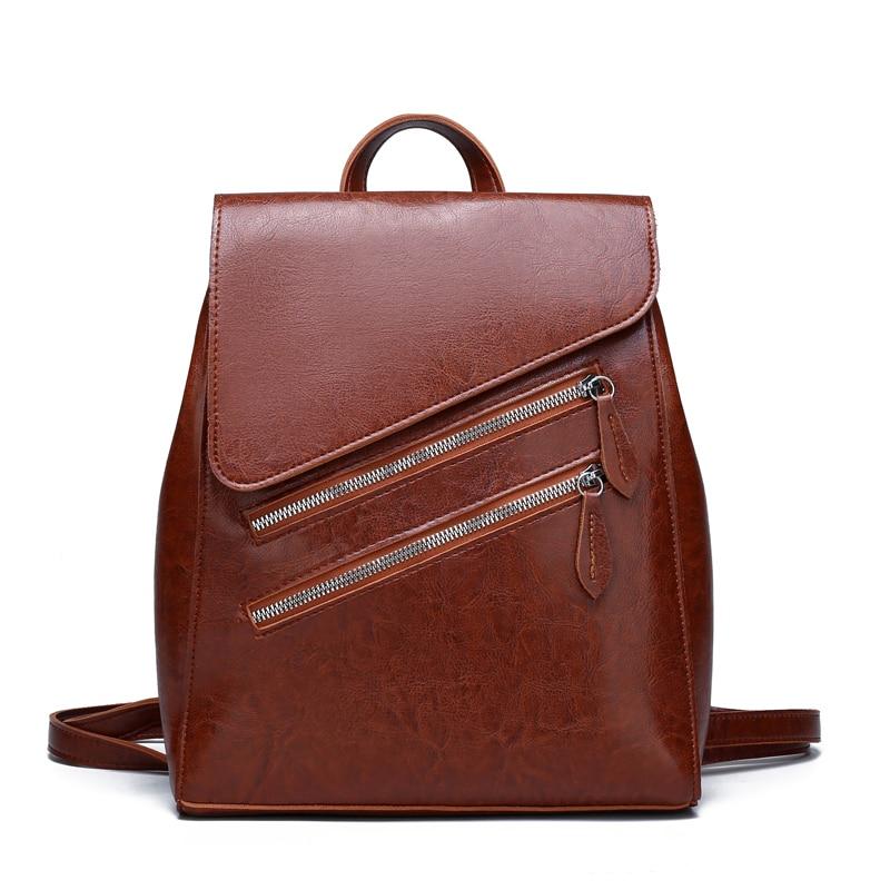 Роскошные Брендовые женские винтажные кожаные рюкзаки для девочек, женские рюкзаки высокого качества, школьные сумки для девочек, сумки на ...