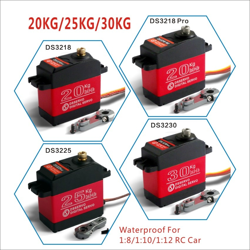 1 X Waterproof servo 20KG 25KG 30 KG and high speed metal gear digital servo baja servo for 1/8 1/10