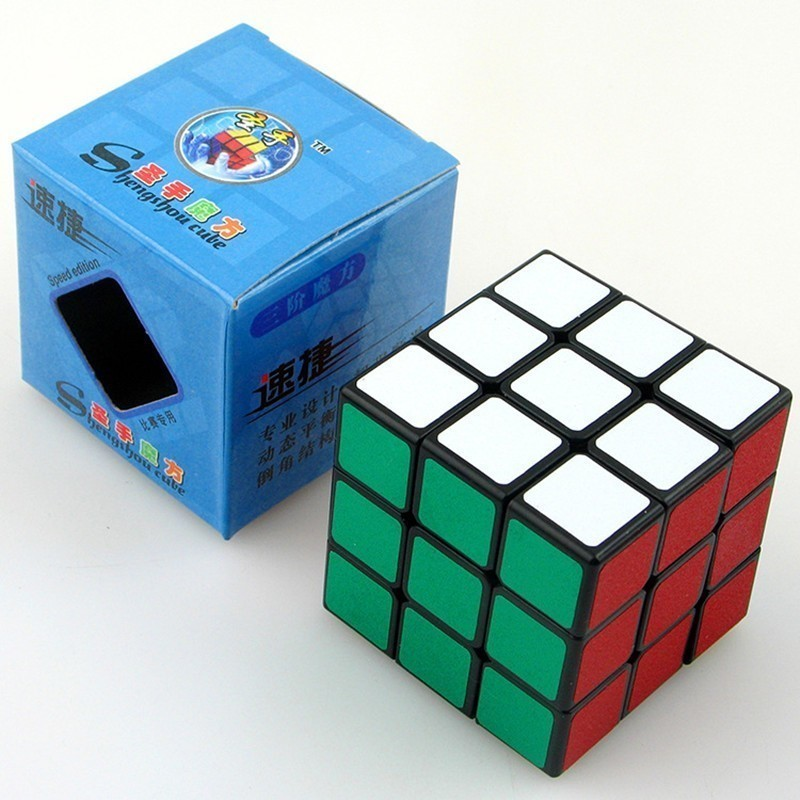 Sheng Shou Agile Three Steps Magic Neo Cube Matting Black 3x3x3 Cube Compete Speed Originality Children's Toys For Children
