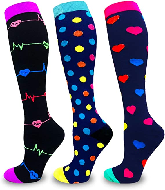 New Compression Socks For Women And Men Best For Athletic, Edema, Diabetic,Flight Socks ,Shin Splints - Below Knee High