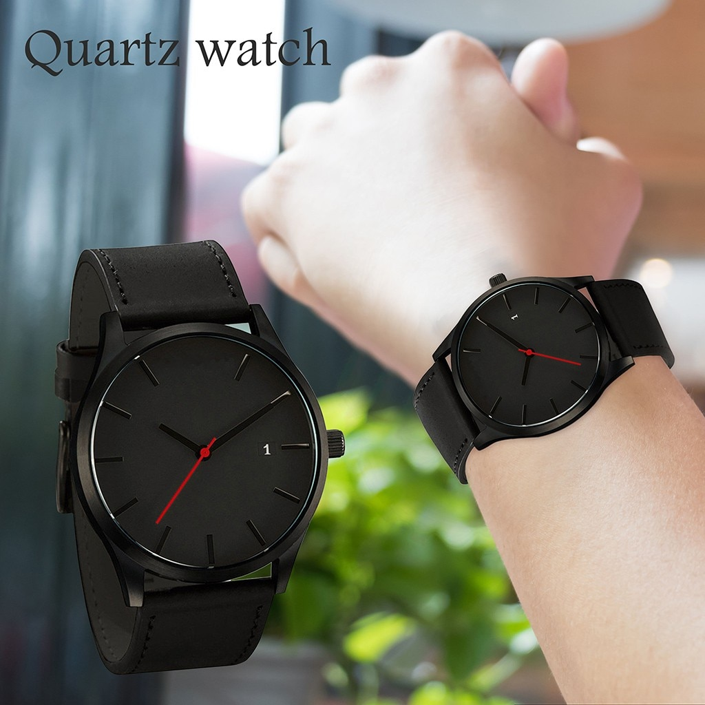 Couple Watch Women Men Fashion Leather Band Strap Watches Simple Quartz Business Men watch zegarek d