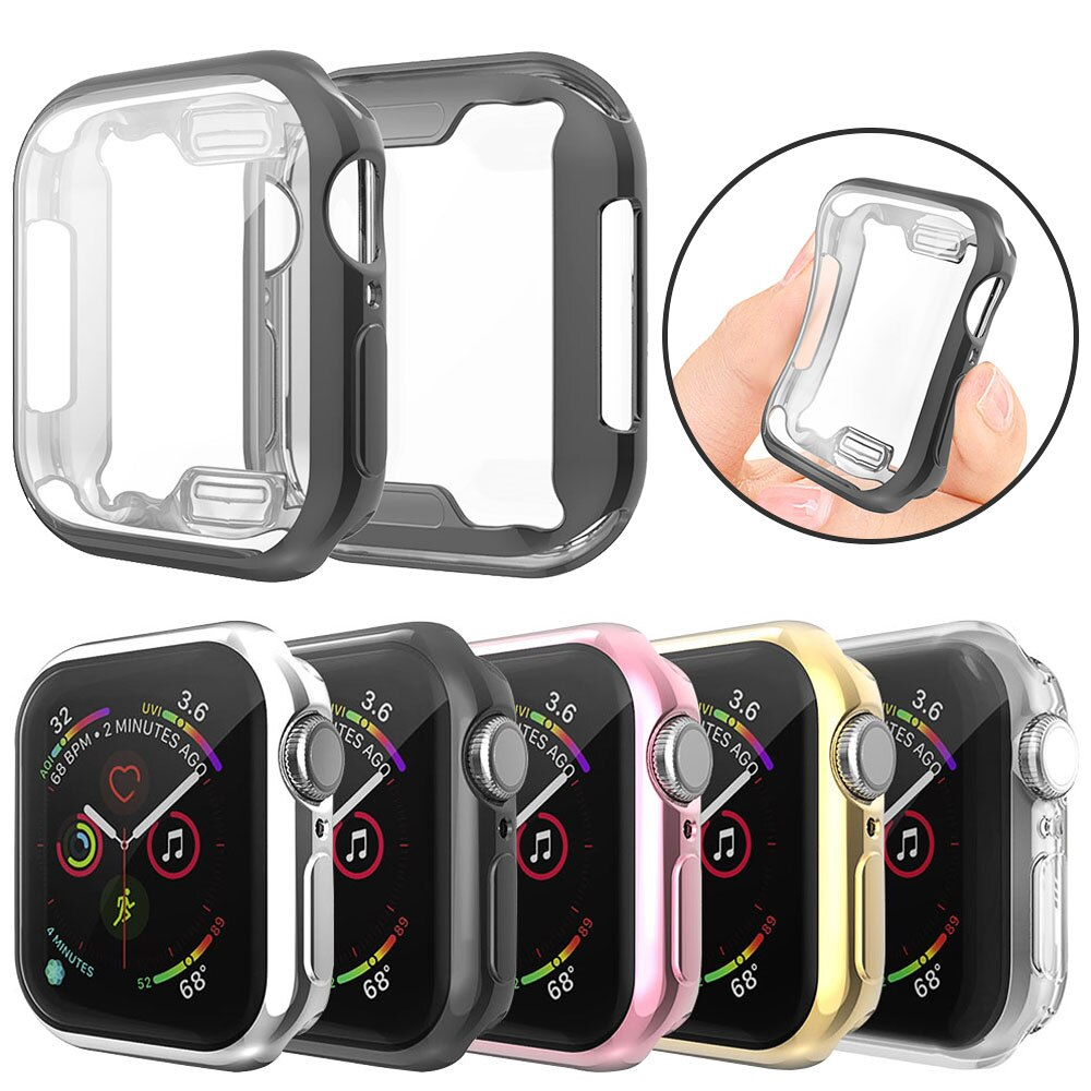 Screen Protector Case for Apple Watch SE Series 6 5 4 40mm 44mm Soft Full Cover Men/Women Tpu Bumper Watch Accessories