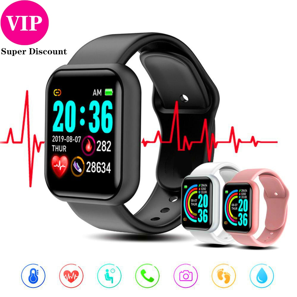 Y68 Smartwatch Women Men Sport Bluetooth Smart Band Heart Rate Monitor Blood Pressure Fitness Tracke