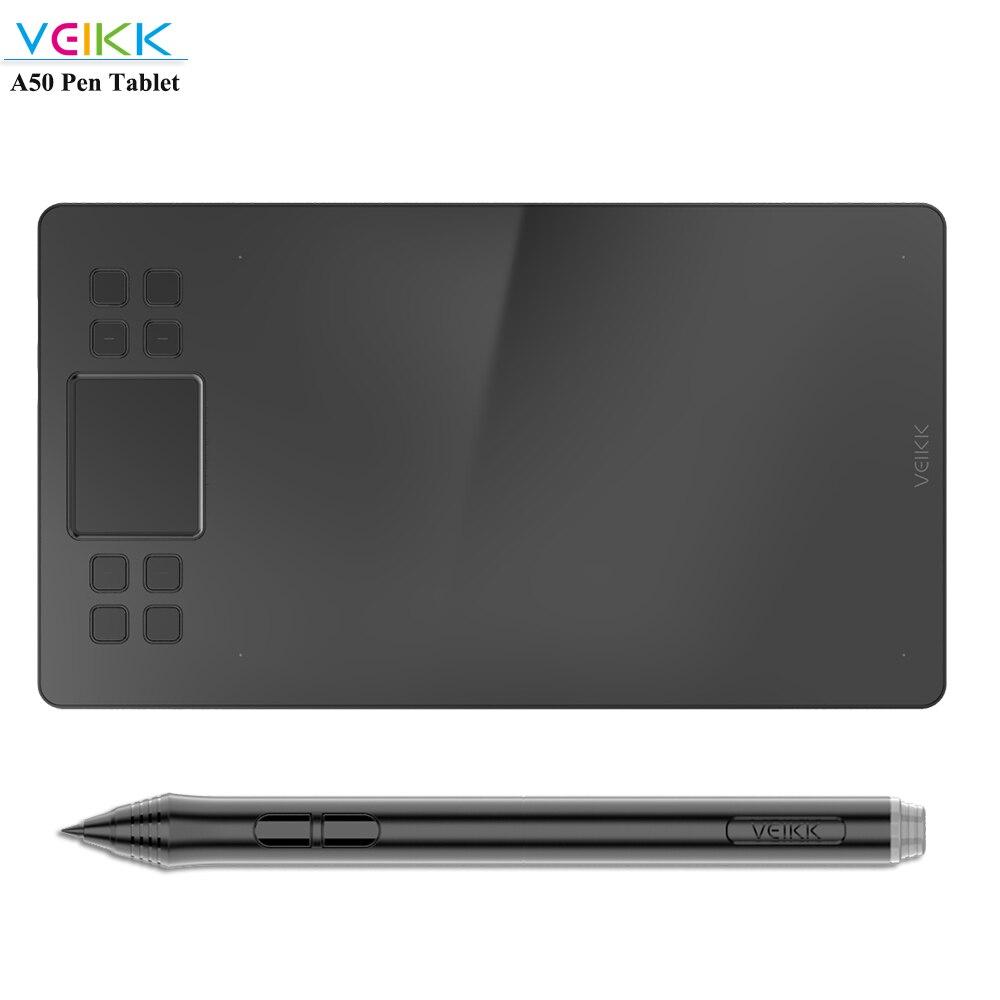 Tableta gráfica VEIKK con 8192 de sensibilidad a la presión, bolígrafo sin batería de 10x6 pulgadas, tableta Digital para artistas, ordenador, portátil y PC