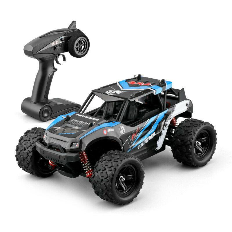 RC Off-road Vehicle 40+MPH 1/18 Scale RC Car 2.4G Radio 4WD High Speed Fast Remote Controlled Large TRACK RC Toys