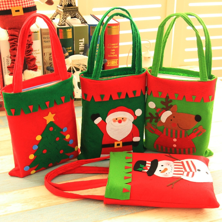Adornos navideños para el hogar bolsa de regalo regalos de navidad paquete...
