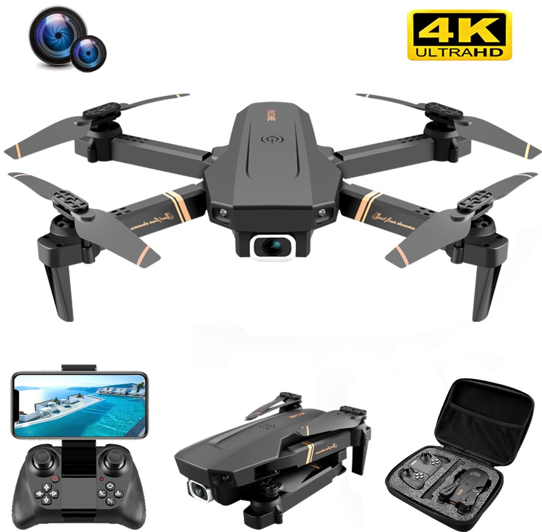V4 Rc الطائرة بدون طيار 4k HD زاوية واسعة كاميرا 1080P واي فاي طائرة بدون طيار fpv كاميرا مزدوجة كوادكوبتر في الوقت الحقيقي نقل ألعاب هليكوبتر