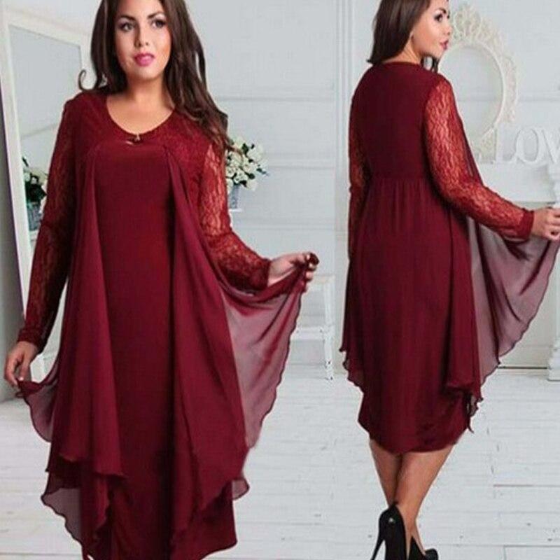 فستان أم العروس شيفون عنابي اللون فستان طويل بأكمام طويلة من الدانتيل يناسب رقبة على شكل V بالإضافة إلى حجم مخصص لحفلات الزفاف 2021