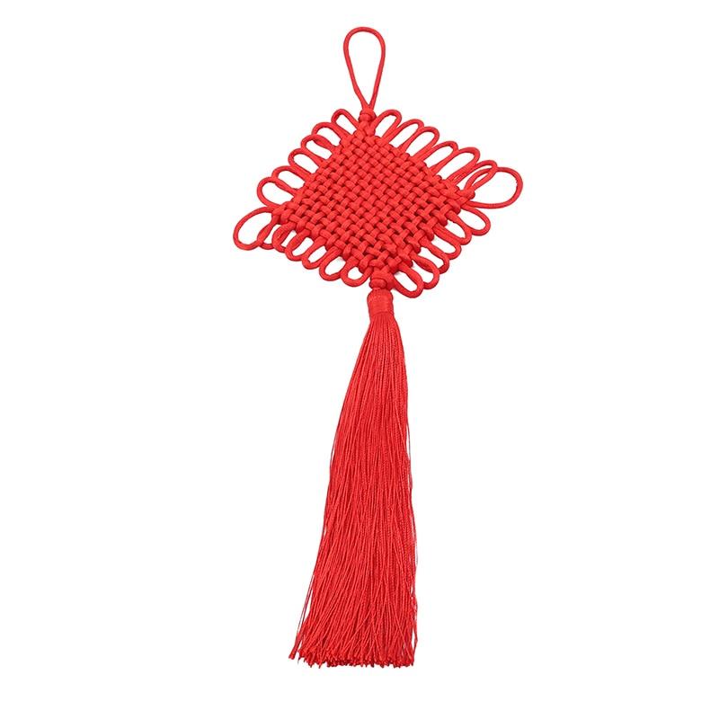 Borla con nudos China flequillo borla de flores Trim hecho a mano ropa decorativa para cortinas accesorios de decoración del hogar