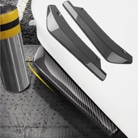 1 pair carbon fiber car rear bumper lip diffuser splitters protection side extensions for bmw e46 for benz w204 for audi a3 a4