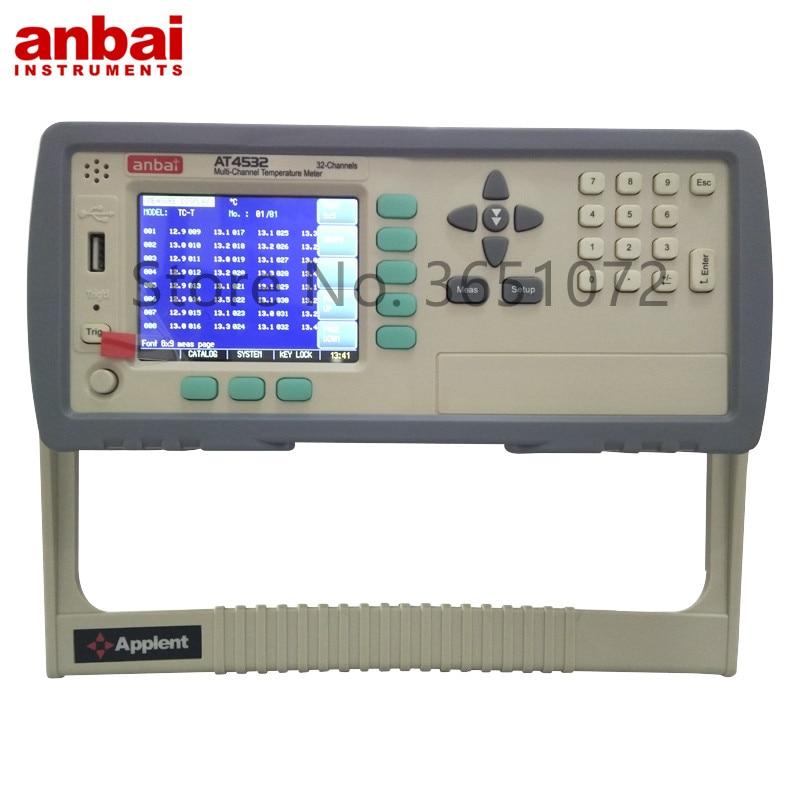 Applent AT4532 цифровой регистратор температуры с 32 каналами