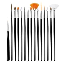 nail brush for manicure gel brush for nail art ombre brush set for uv gel nail polish painting drawing acrylic liquid carving