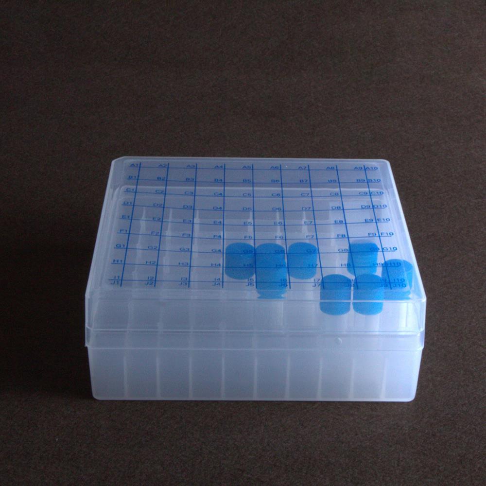 Caja de tubo de alta calidad 81 agujeros 1,5 ml/1,8 ml caja de almacenamiento de nitrógeno líquido caja de congelación con número