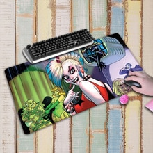 large harley quinn High Quality Gaming Mouse Pad XL Large Carpet Mousepad Gamer Keyboard Mat White Lock Edge Mousepad