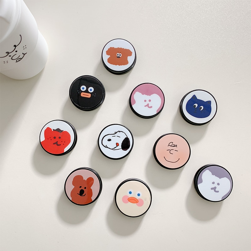 Soporte de agarre de dibujos animados de Corea soporte de dedo móvil expandible soporte de teléfono soporte de escritorio soporte de agarre de teléfono móvil para iphone