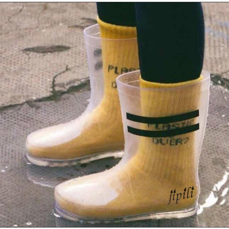 ¡Novedad de 2020! Botas de lluvia transparentes, Botas de lluvia de PVC, zapatos de agua para bebé, zapatos de lluvia para niños, botas para niña