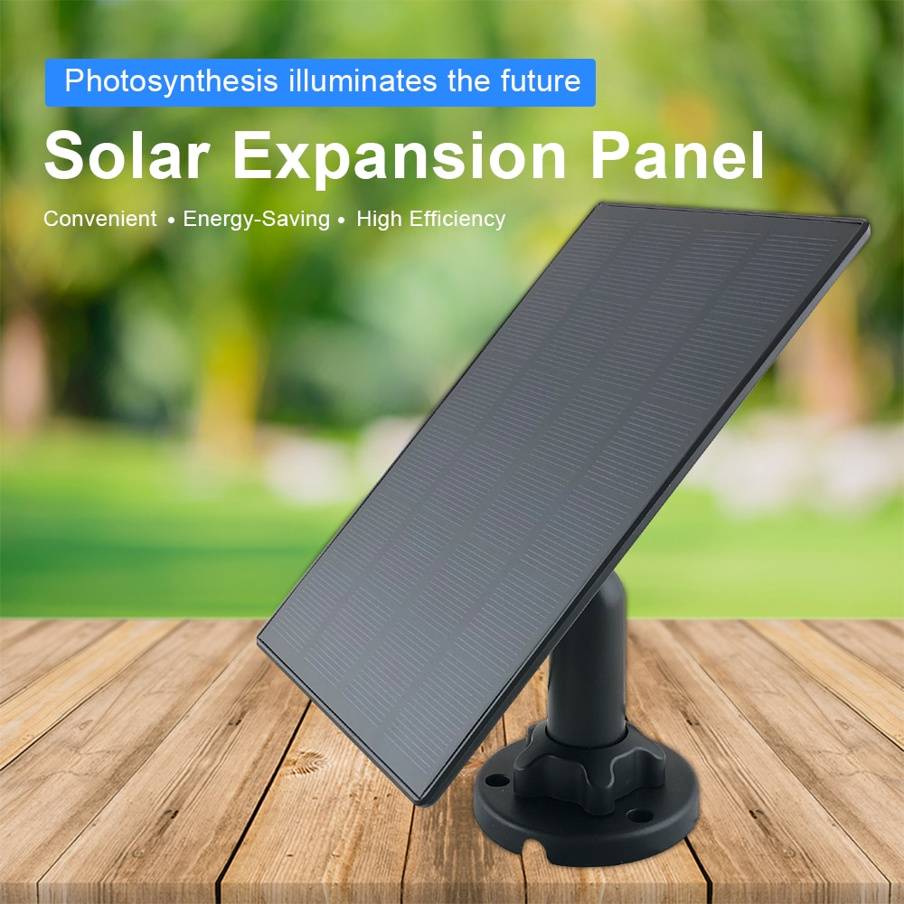 Ultra Thin Solar Panel for Rechargeable Battery Powered IP Security WiFi Camera Street Light Outdoor Light Surveillance Camera