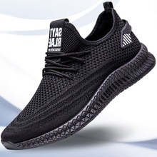 Fashion New Men Sneakers Flat Casual Shoes for Men Mesh Breathable Walking Sports Running Shoes
