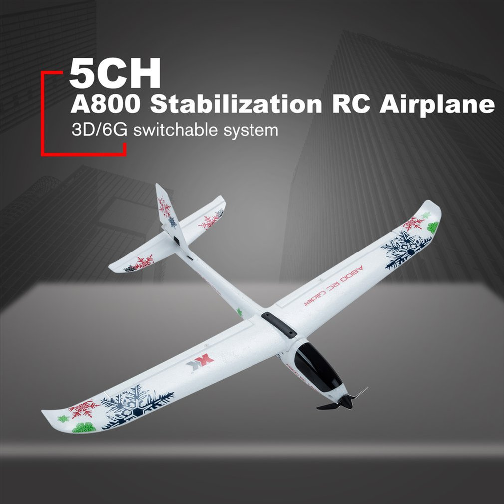 WLtoys XK A800 Stabilization RC Airplane 5CH 780mm 3D6G System Model Airplane Push-speed Gliders Fixed Wing Plane For Futaba enlarge