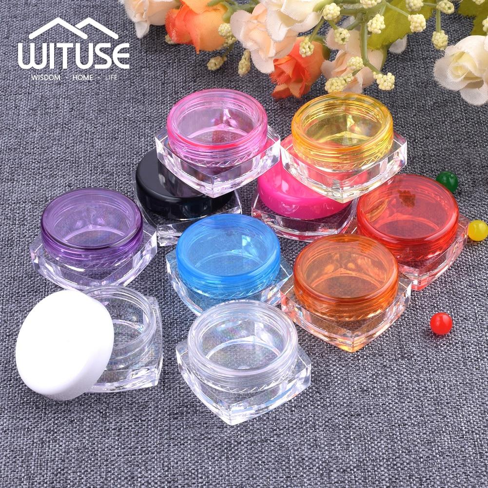 10Pcs Portable Empty Cosmetic Cream Lotion storage jars Eyeshadow Makeup Travel Container Plastic Refillable Bottle Box Jar Pot