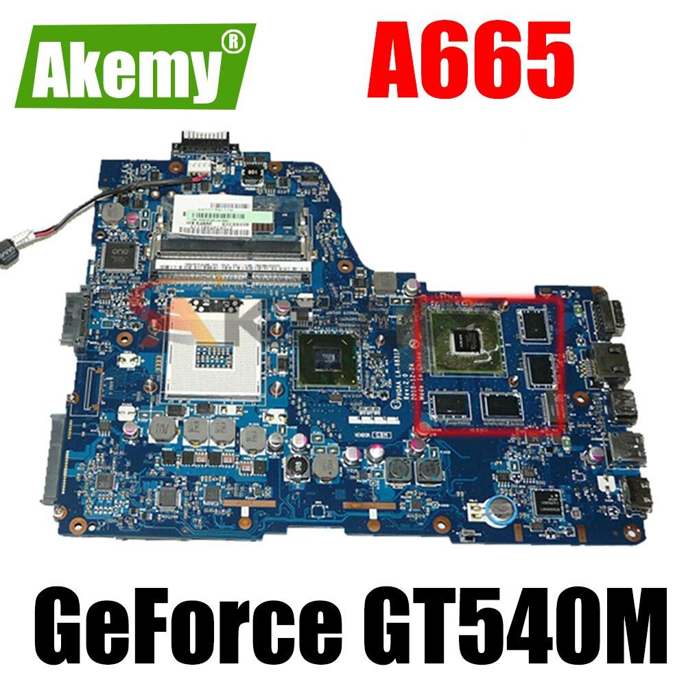 K000125710 PHQAA LA-6831P اللوحة الأم لأجهزة الكمبيوتر المحمول توشيبا A665 اللوحة الأم REV 1.0 إنتل HM65 GeForce GT540M اللوحة الرئيسية