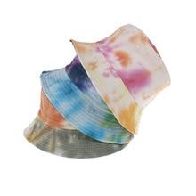 Tye Dye Bucket Hat for Women Spring Summer Sun Protection Bob Hat Men Reversible Fisherman Hat Outdoor Foldable Harajuku Cap
