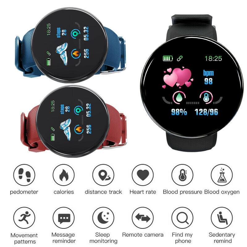 Reloj inteligente resistente al agua para la presión arterial, Monitor de ritmo cardíaco para iOS Android