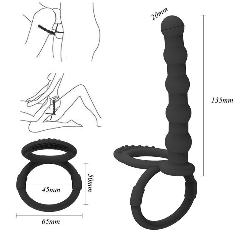 Double Penetration Gurt Auf Dildo Kugel G Spot Vibrator Sex Spielzeug Für Frau Butt Anal Stecker Perlen Prostata Massager Für paare
