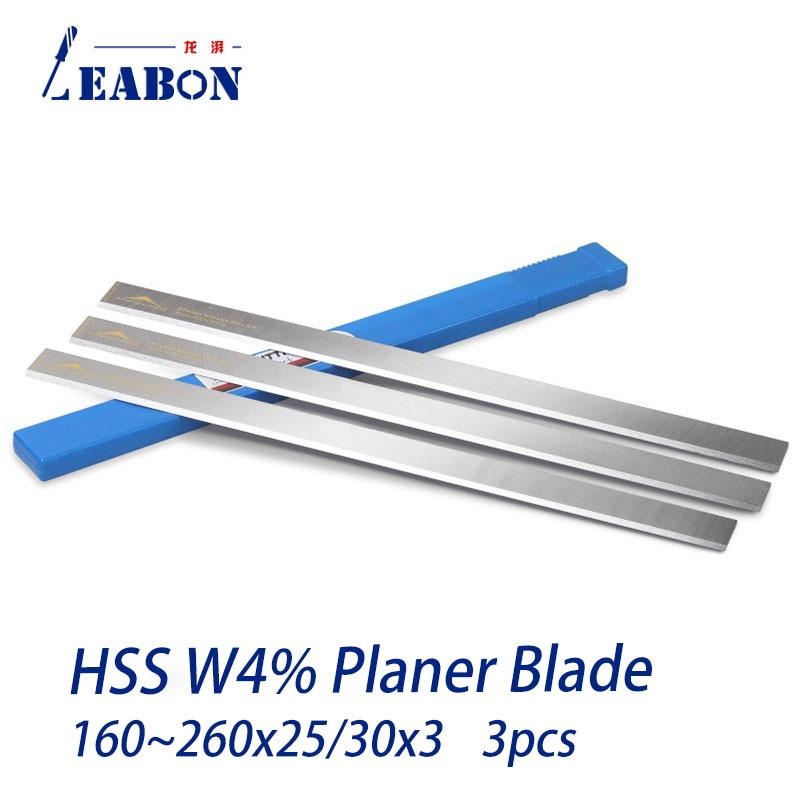 3 Pcs W4 HSS  Wood Planer Blades Knife Blade Electric Planer Cutter Woodworking Planer Blade Cut Hardwood, Length 160-260mm