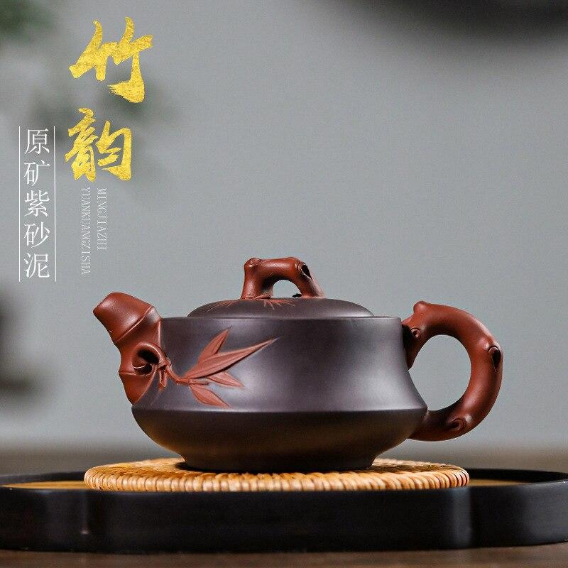 Alle handgemachte lila ton topf, Yixing Dingshu Stadt, Zhuyun 220 mL teekanne, Songzhumei tee-set