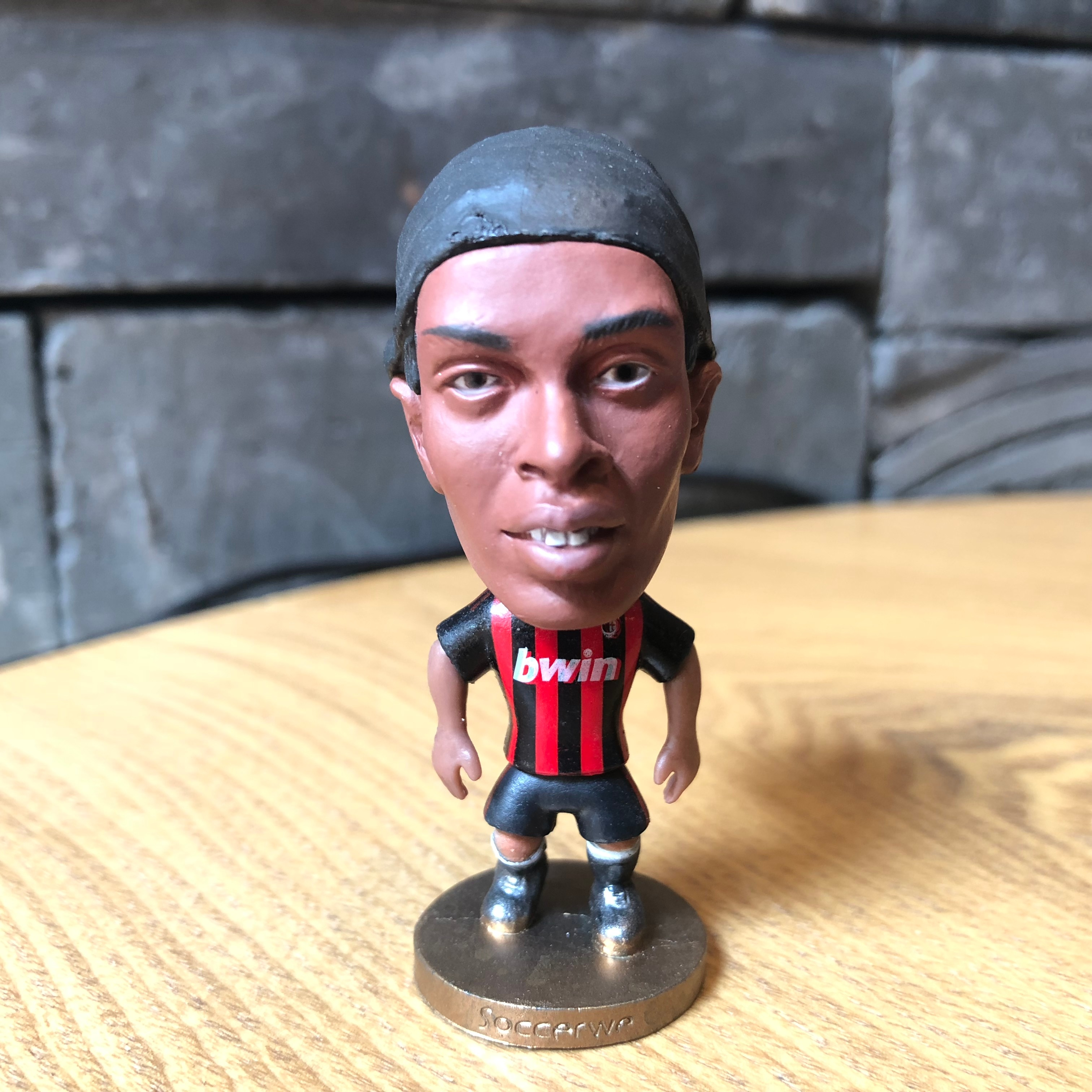 Футбольная звезда Ronaldinho, резиновая кукла, экшн-фигурка 6,5 см, мини-игрушка, коллекционный подарок