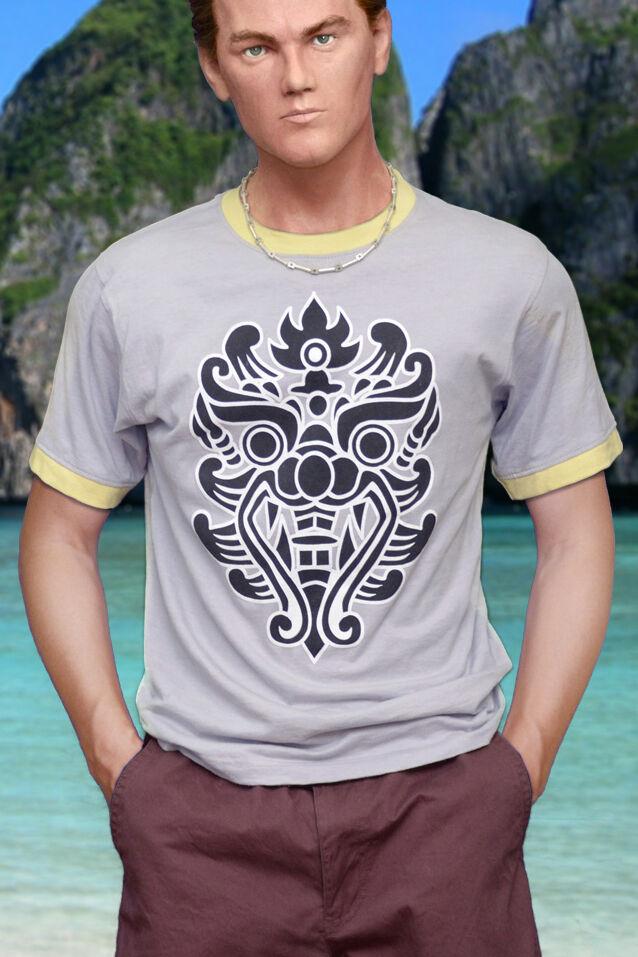 Camiseta precisa de pantalla, playa, Leonardo DiCaprio, algodón de 100%, camiseta gráfica