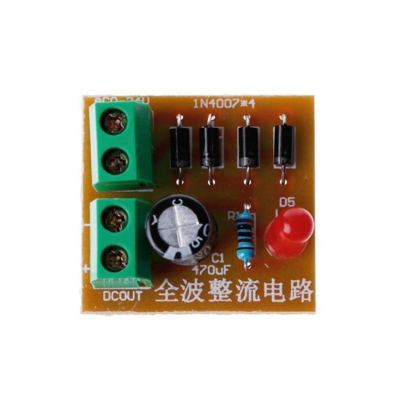 5 pçs kit diy in4007 onda cheia retificador circuito ac para dc fonte de alimentação conversor y1ae
