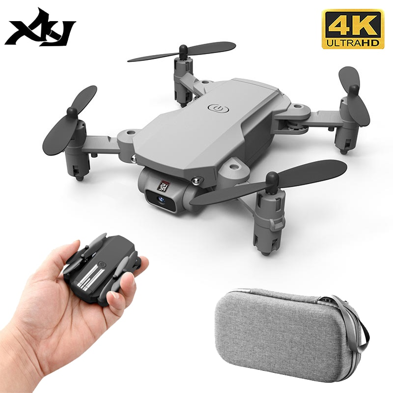 XKJ Mini Drone 4K 1080P 480P Camera RC Foldable Quadcopter WiFi Fpv Air Pressure Altitude Hold Black And Gray Dron Toy For Kids xkj 2020 new mini drone 4k 1080p hd camera wifi fpv air pressure altitude hold black and gray foldable quadcopter rc dron toy