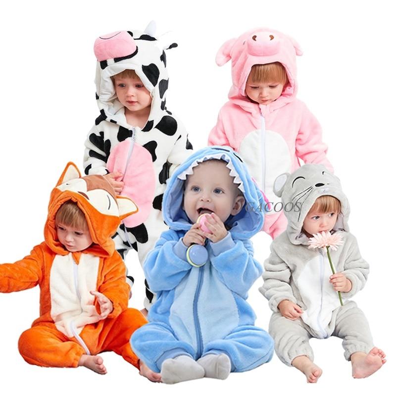 2020 pijamas de bebé de dibujos animados Stitch Panda vaca ropa niñas peleles niños bebé ropa de dormir niño Animal Panda infantil mono