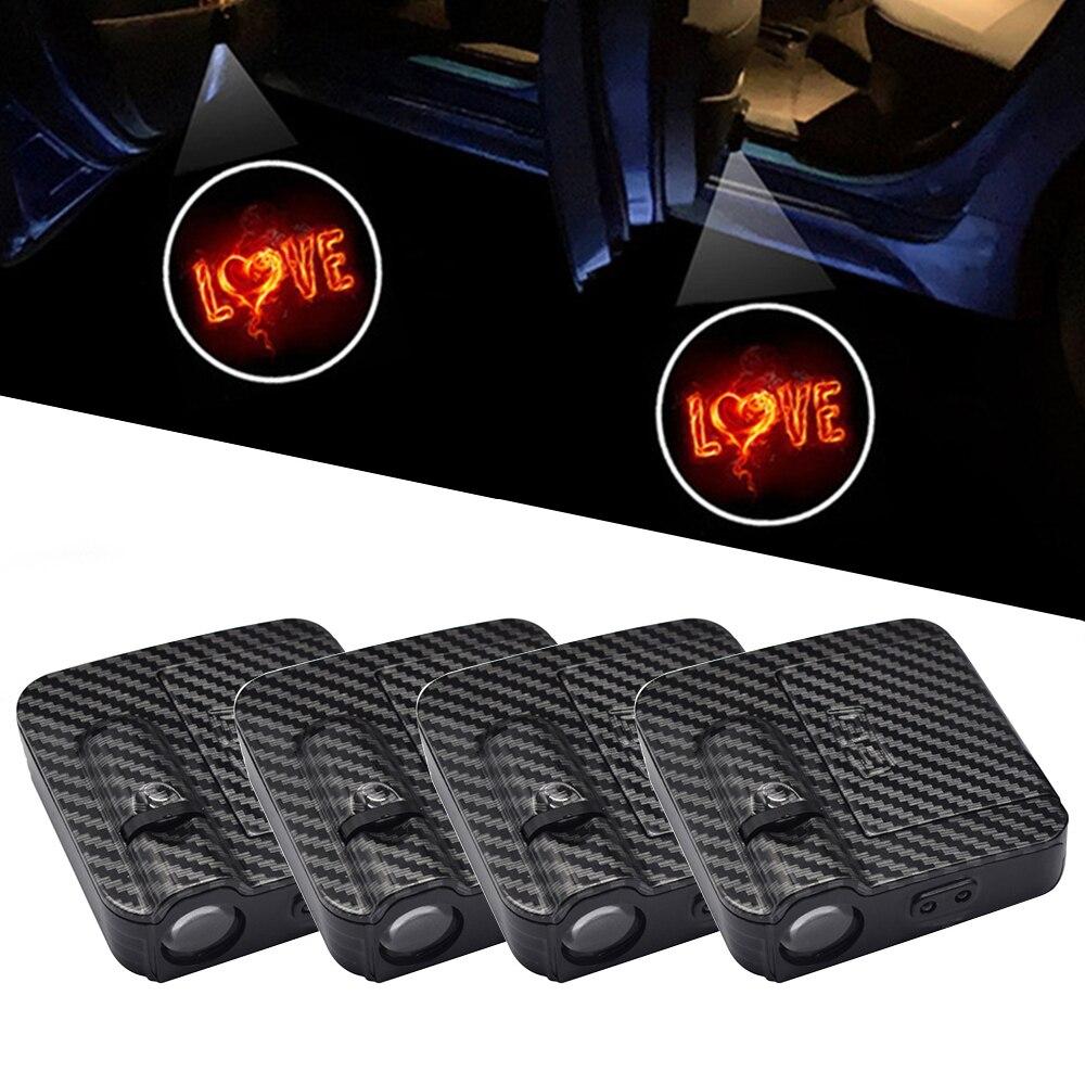 Беспроводной светодиодный фонарь для двери автомобиля, лазерный прожектор с логотипом, Призрачная тень, светильник, универсальный комплек...