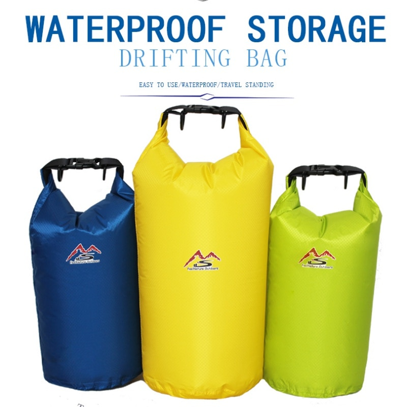 5/10/20/30 L bolsa impermeable al aire libre bolsa seca impermeable de Nylon Amarillo limón para acampar a la deriva senderismo natación Rafting kayak