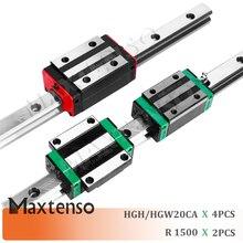 MAXTENSO HGR20 longueur 1500mm HGH20CA HGW20 Rail de guidage linéaire et blocs chariot guidage linéaire Center de la Machine de haute qualité