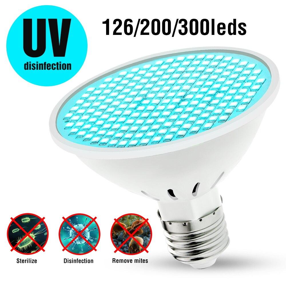 Lámpara germicida Led E27 UVC, Esterilizador UV de 220V, luz Led de...