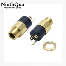 Connecteur de prise Jack femelle stéréo 2/5, 3.5MM, PJ-392 pièces, connecteur de casque Audio-vidéo 3.5 avec vis, plaqué or PJ392
