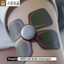 Youpin LF Elettrico Relax Muscle Massager di Terapia A quattro ruote motrici multi-canale di massaggio Completo Del Corpo di Magic Touch massaggio adesivi