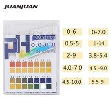 100 bandelettes/boîtes de Test de pH bandelettes de Test de qualité supérieure à léchelle de la gamme complète papier de testeur de tournesol idéal pour Tester le niveau de pH de leau 40% de réduction