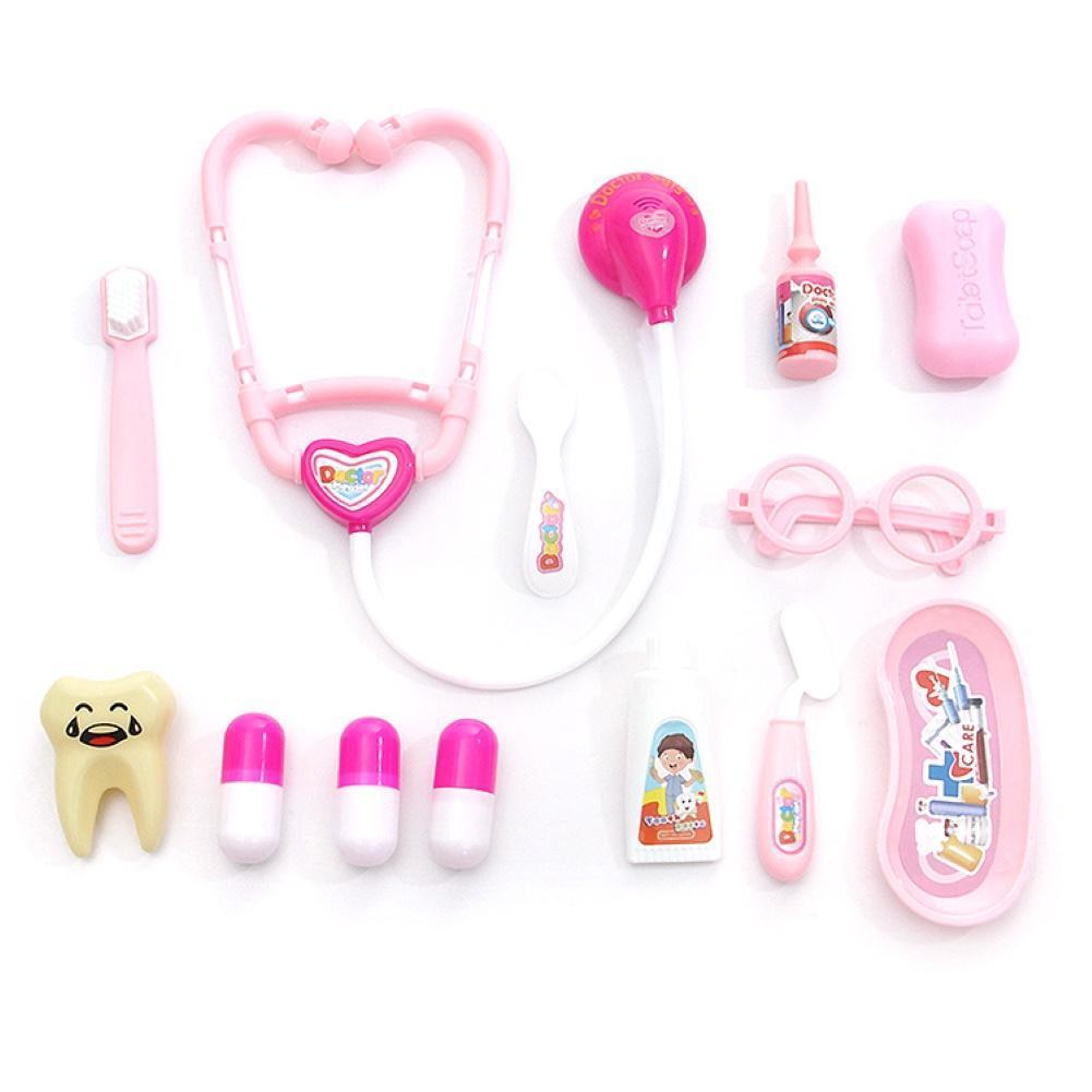 13 шт. Дети моделирование стетоскоп таблетки стоматолог доктор ролевые игры игровой набор игрушек недорого